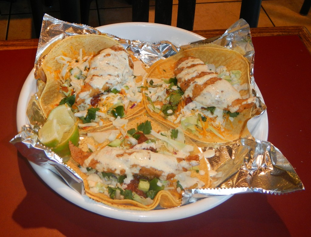 The Fish Tacos at Chimayo Mexican Grill are to die for!