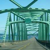 Entering Oregon on Bridge