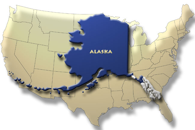 Alaska is by far the largest state!