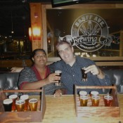 Beer Sampler at Banff Brewing Company Banff Canada