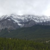 The mountains surrounding Banff