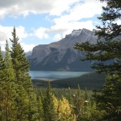 View from Cascade Mountain in Banff Canada