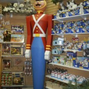 Toy Soldier at Santa Claus House