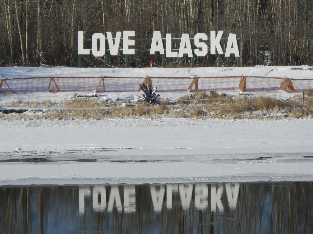 Love Alaska Sign | Pikes Landing | Fairbanks Alaska