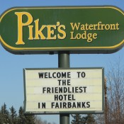 Pikes Waterfront Lodge Sign