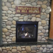 Fireplace at Pikes Waterfront Lodge Fairbanks Alaska