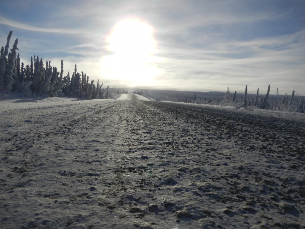Detail of the Road Surface on Alaska's Dalton Highway