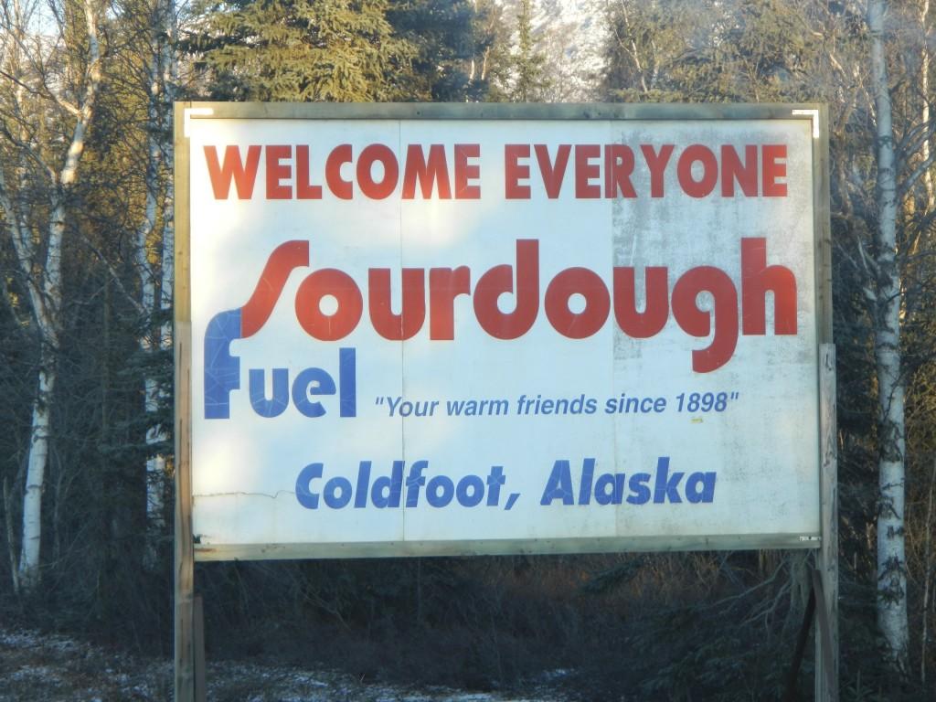 Entrance to Coldfoot Camp - Alaska's Dalton Highway