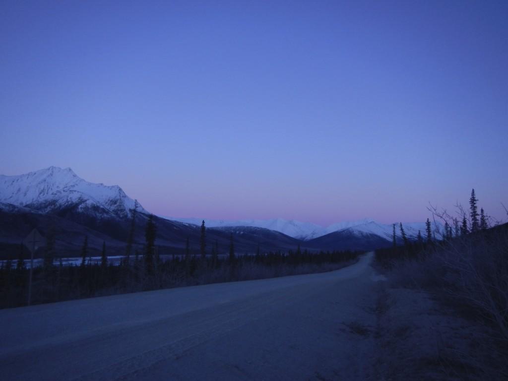 The Dalton Highway as the Sun Rises