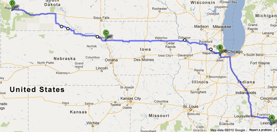 Road Trip Route Plan Florida To Alaska Chicago South