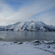 Beautiful lake Kluane YK Canada