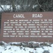 Canol Road Sign