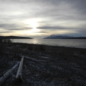 Teslin Lake Sunrise  Yukon Territory Canada