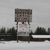 Entrance to the Cassiar Highway Canada