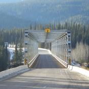 Bridge along the Cassiar highway