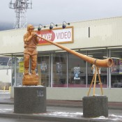 Statue Celebrating Smithers BC