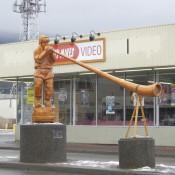 Statue Celebrating Smithers BC