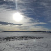 Snowed over Ranch Land in Vanderhoof, BC