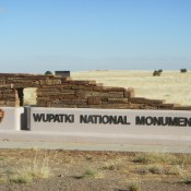 Entering Wupatki National Monument Arizona
