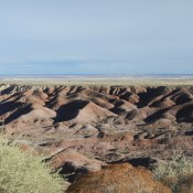 Painted Desert Overlook in the Petrified Forest Arizona