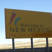 Welcome to New Mexico Sign taken on our road trip