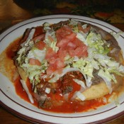 Indian Taco At Casa De Fiesta Restaurant Old Town Albuquerque NM