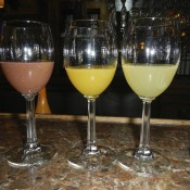 Flight of Mimosas at St. Clair Winery Albuquerque New Mexico