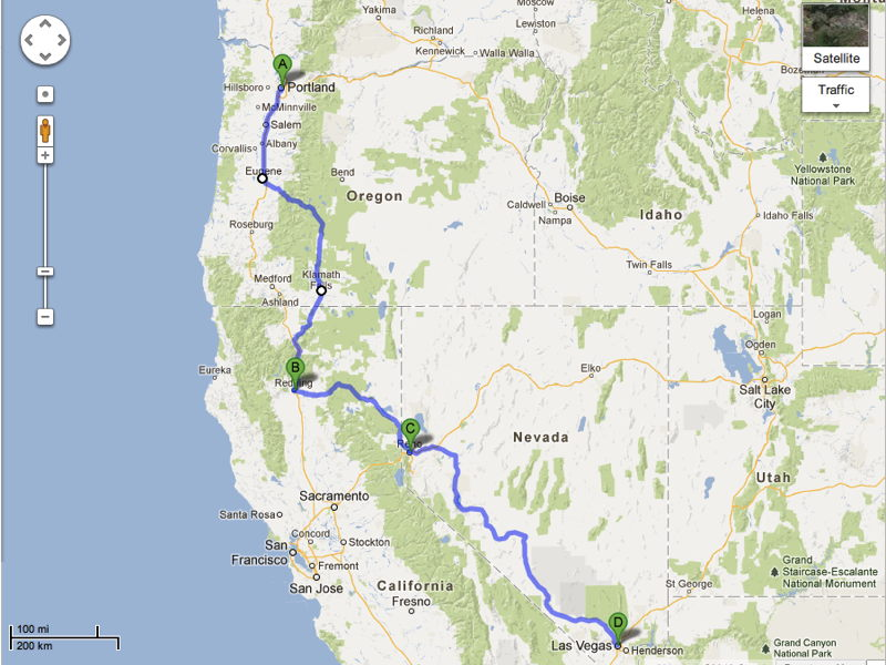 Road Trip Redding CA to Reno NV To Las Vegas Rambling and Gambling