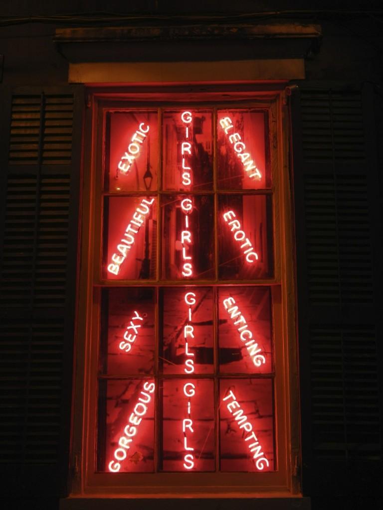 Sign on Bourbon Street NOLA - Road Trip New Orleans