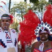 Kenin and Lauren masquerading - Carnival in Trinidad
