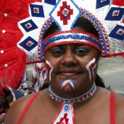 Closeup of Lauren - Carnival in Trinidad