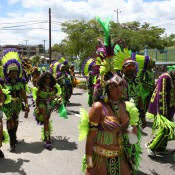 Playing Mas Carnival in Trinidad