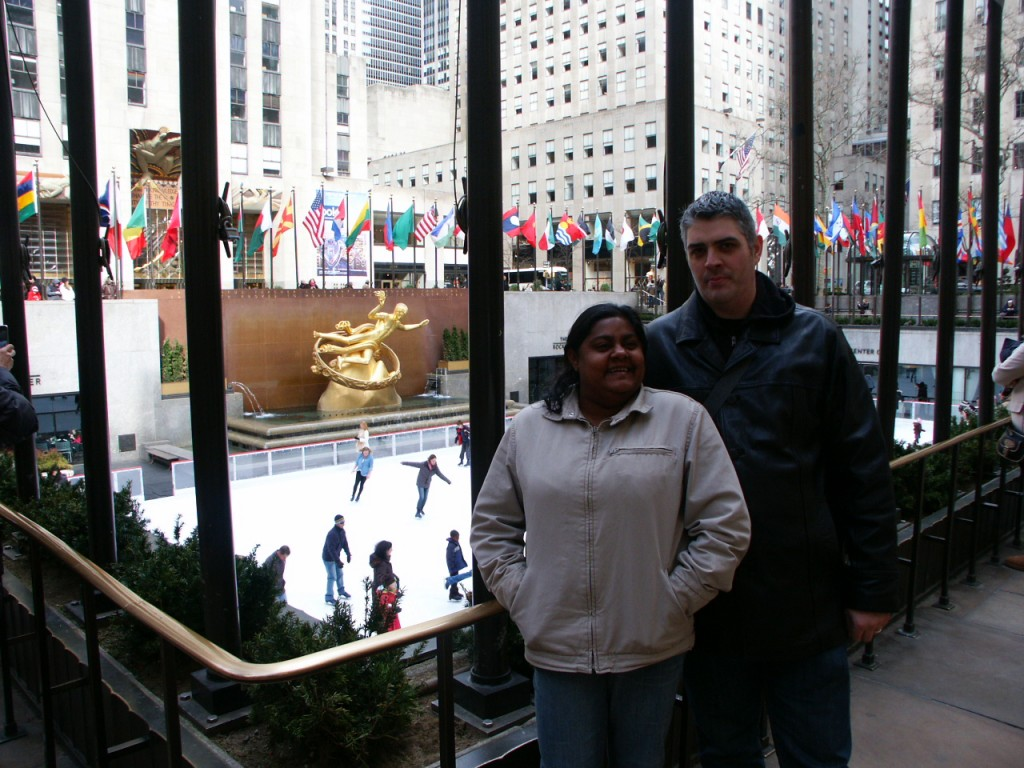 Kenin and Lauren at Rockefeller Center - Our biggest travel regrets
