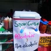 Alcoholic Snow Cones - Carnival in Trinidad