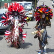 Pair of Bustle Dancers - Carnival in Trinidad