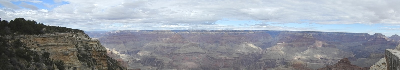 The Panorama of the Canyon's South Rim