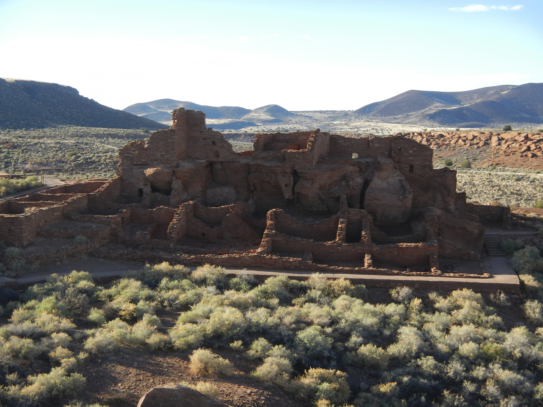 Driving by the Wupatki Ruins