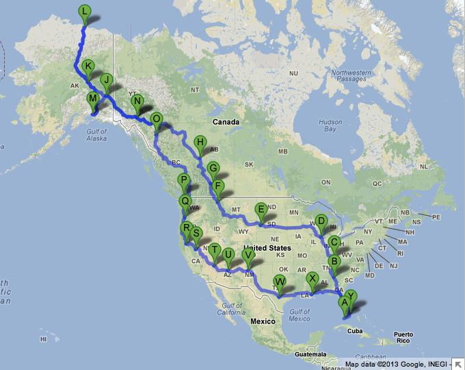 Road Trip From Florida To Alaska Travel Cross Country Tips - Alaska road map