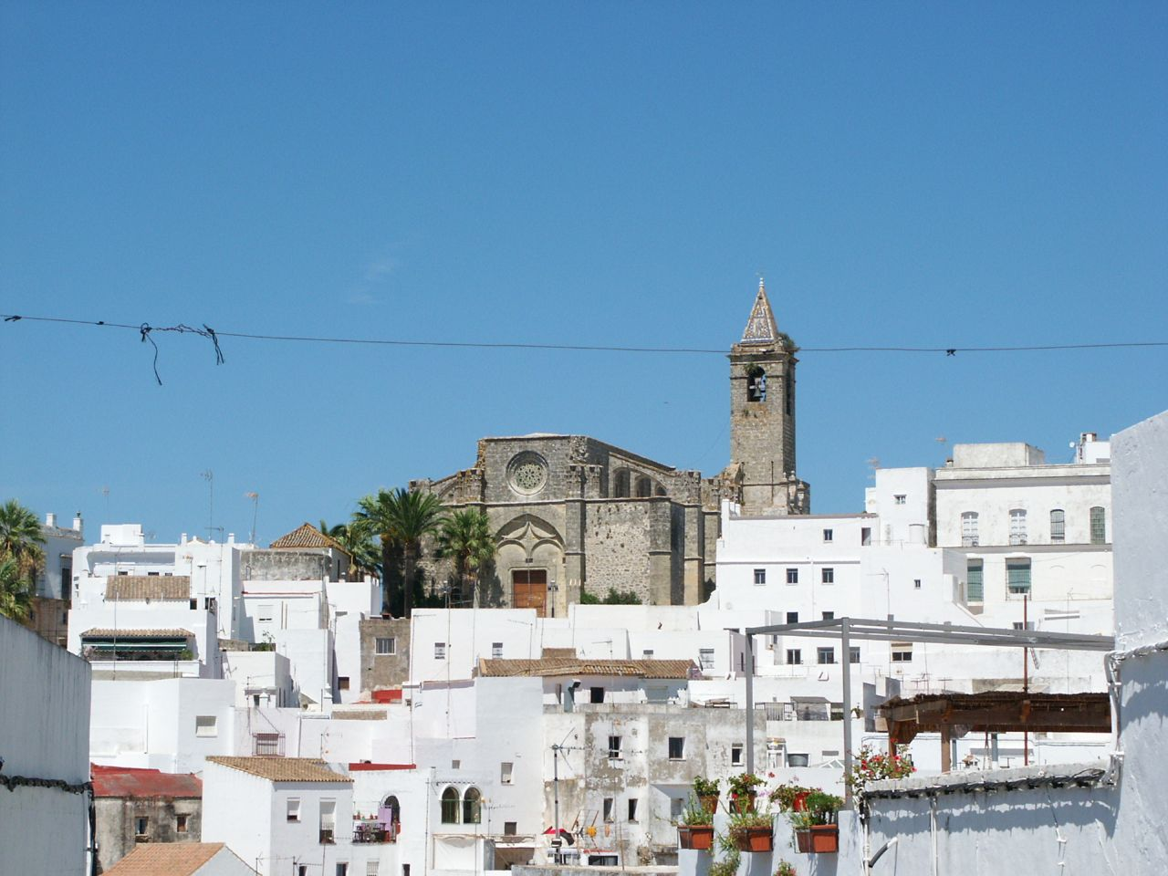 white towns of andalusia spain travel photo holiday the fortress church is v
