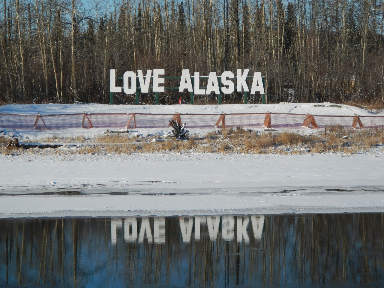 Love Alaska Sign Fairbanks
