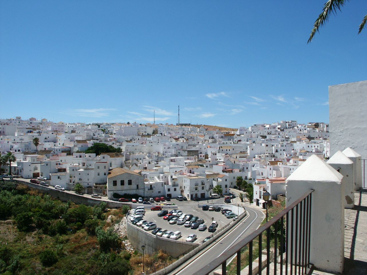 white towns of andalusia spain travel photo holiday view of the white town from the top