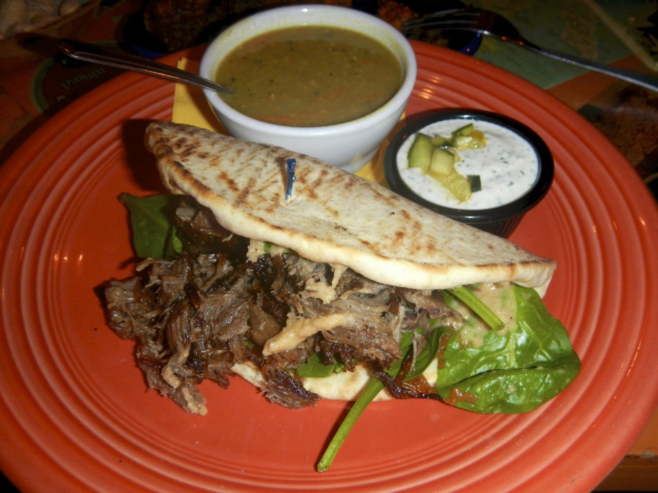 Tandori Lamb with Lentil Soup