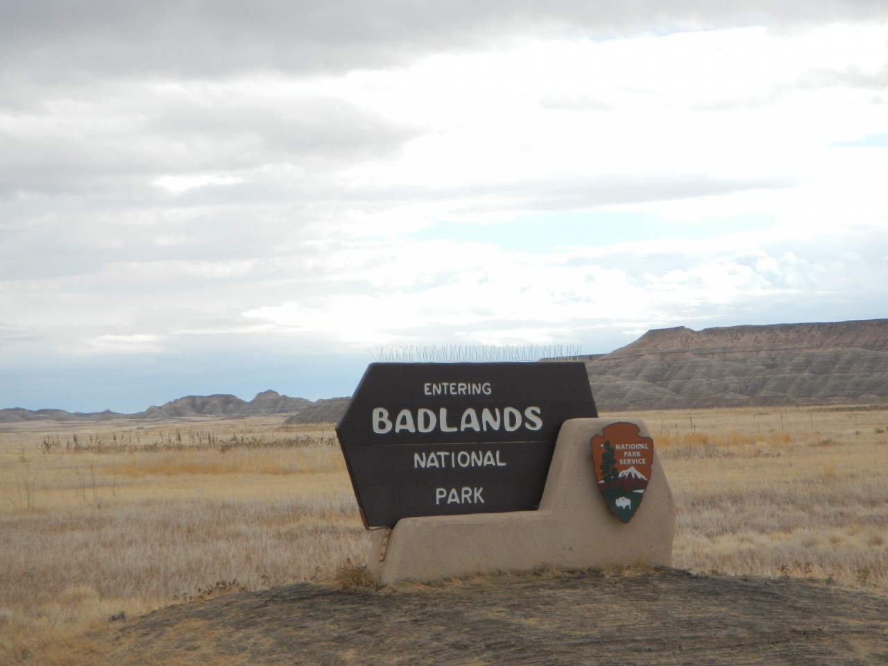 Badlands National Park Entrance Sign