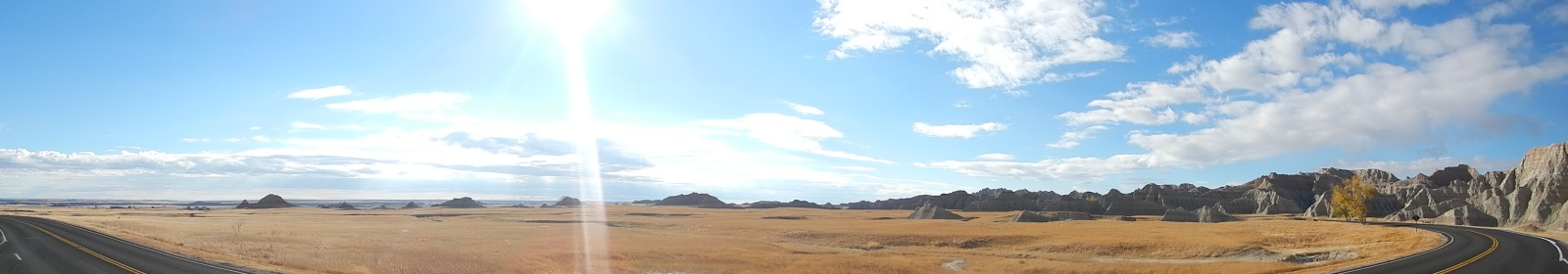 Panoramic shot of the Badlands