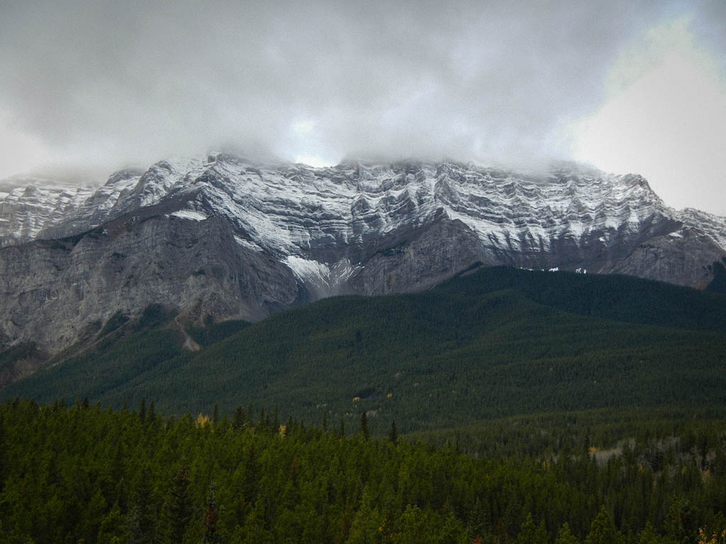 Cloudy Sky over the mountains in Banff