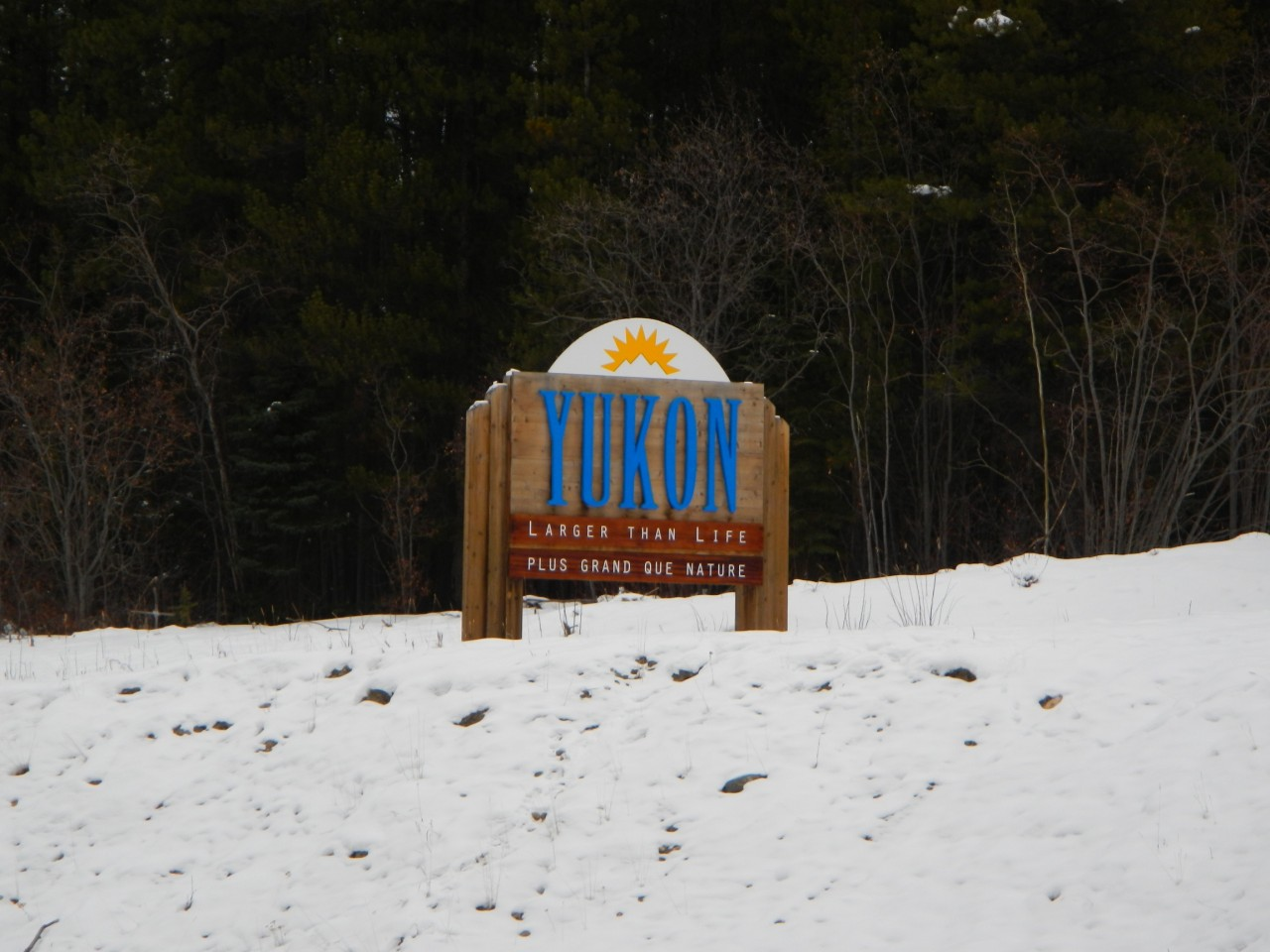Entering Yukon Territory Sign