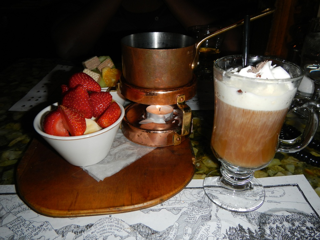 Chocolate Fondue and Irish Coffee