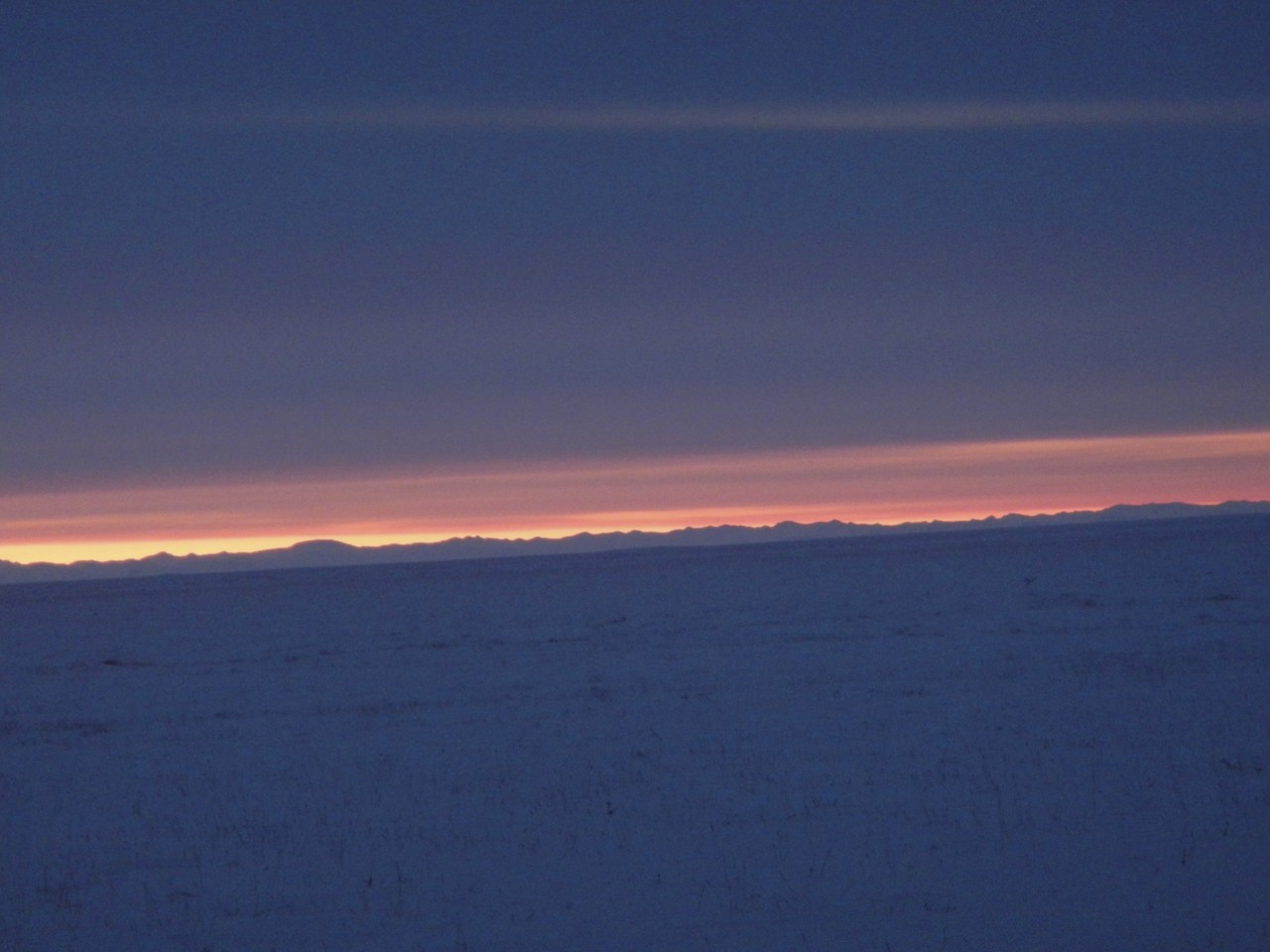 Sunrise in Deadhorse Alaska