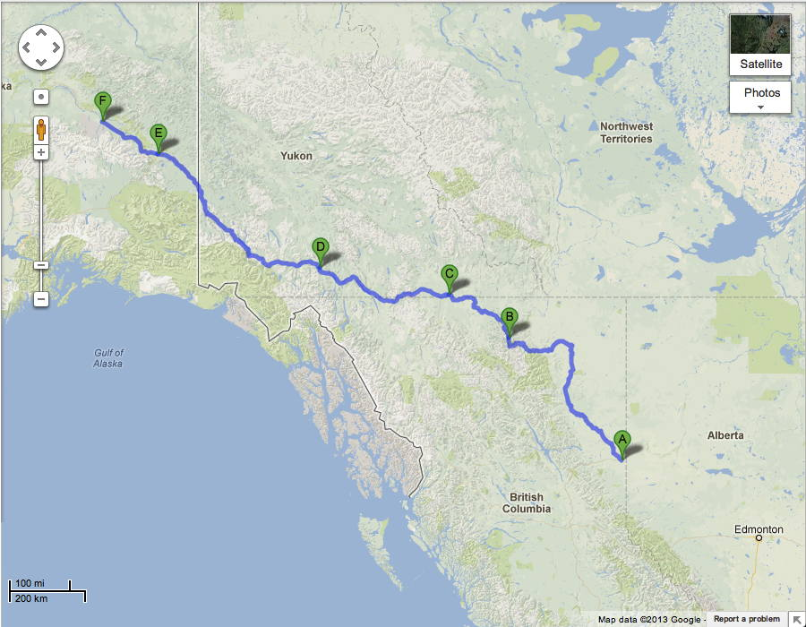 The Alaska Canada Highway Guide Road Trip Planner AlCan Photos - Map of canada and alaska