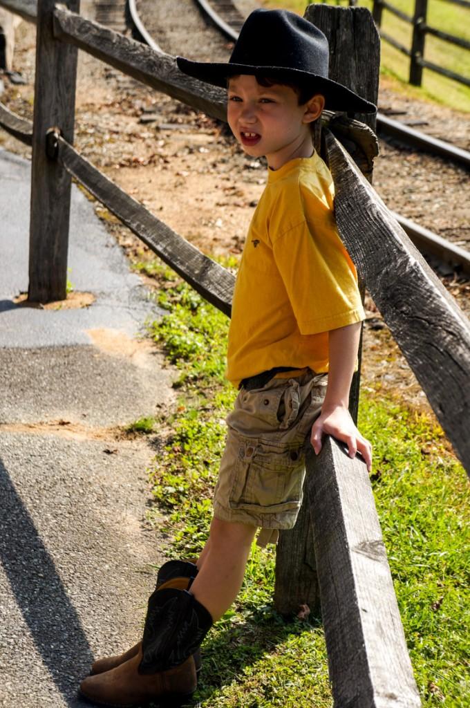 Dressed Up Kid At Tweetsie Railroad